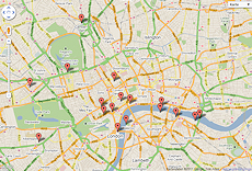 London Photo & Travel Map
