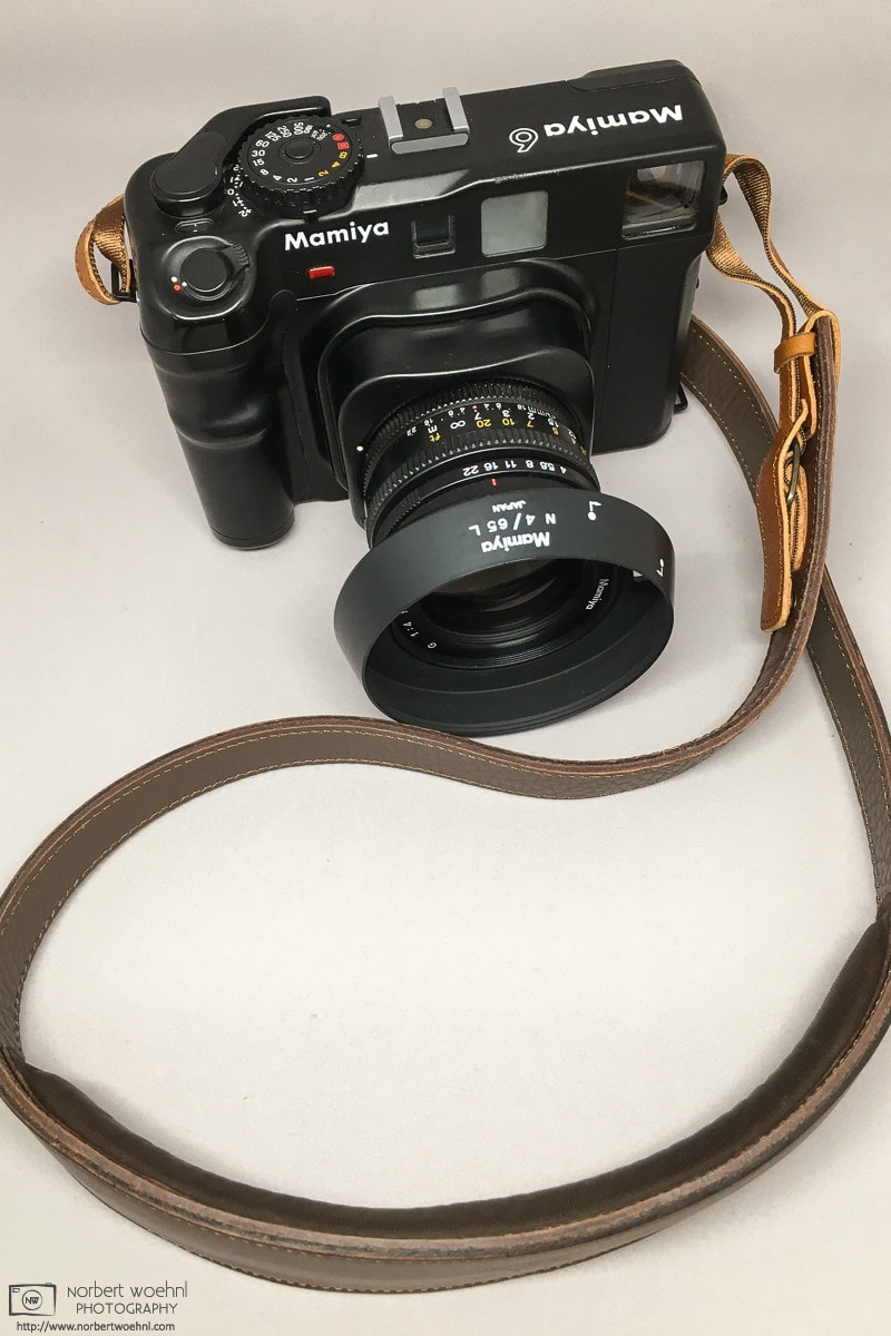 My Mamiya 6 with 50mm f/4.0 lens and leather strap - Alternate view photo