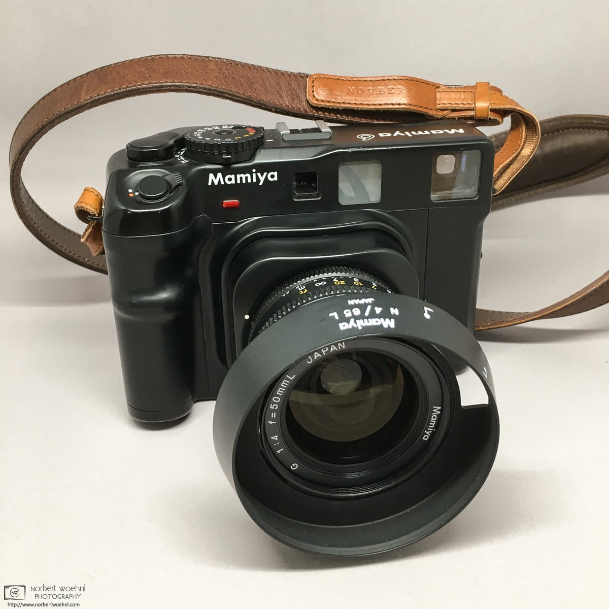 My Mamiya 6 with 50mm f/4.0 lens and leather strap photo