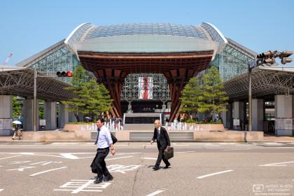 Salaryman's Stride, Kanazawa Station, Ishikawa, Japan Photo