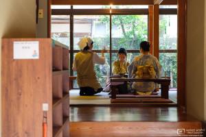 Glimpse into a Teahouse, Higashi Chayagai, Kanazawa, Japan Photo