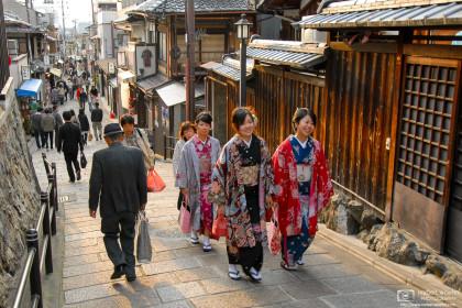 Kimono Encounter, Higashiyama, Kyoto, Japan Photo