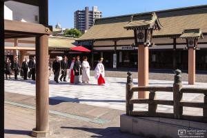 Wedding Procession, Terukuni Jinja, Kagoshima, Japan Photo