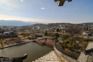 From top of Matsumoto Castle, Nagano Prefecture, Japan Photo