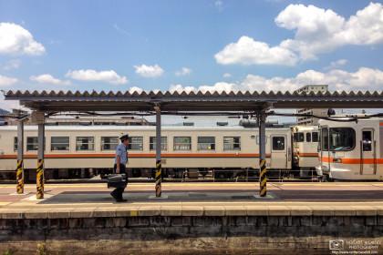 Railway Worker, Takayama Station, Gifu Prefecture, Japan Photo