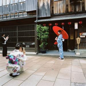 Out for a Stroll, Higashi Chayagai, Kanazawa, Japan Photo