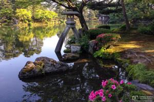 Kotoji-toro Stone Lantern, Kenrokuen, Kanazawa, Japan Photo