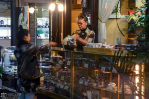 Evian Coffee, Motomachi, Kobe, Japan Photo