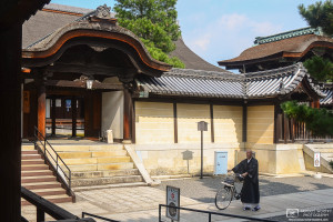 Priest with Bicycle, Myoshinji Temple, Kyoto, Japan Photo