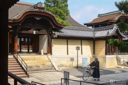 Priest with Bicycle, Myoshinji Temple, Kyoto, Japan Photo