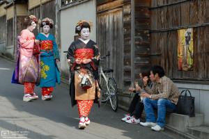 Kimono Maiko, Ninenzaka, Higashiyama, Kyoto, Japan Photo