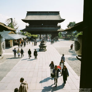 Sanmon Gate, Zenkoji Temple, Nagano, Japan Photo