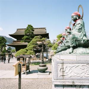 Rokujizo Statues outside Sanmon Gate, Zenkoji Temple, Nagano, Japan Photo