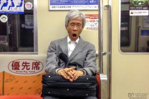 Tired Subway Passenger, Fukuoka, Japan