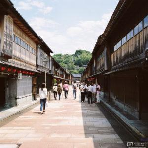 Central Street, Higashi Chayagai, Kanazawa, Japan Photo