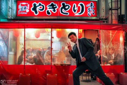 Salaryman's Pose, Yurakucho, Tokyo, Japan Photo