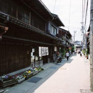 Higashi Chayagai Side Street Angle, Kanazawa, Japan Photo