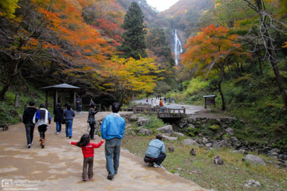 Kamba Waterfall Park Autumn, Okayama Prefecture, Japan Photo