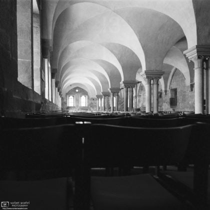 Lay Refectory (Black & White Film), Maulbronn Monastery, Germany Photo