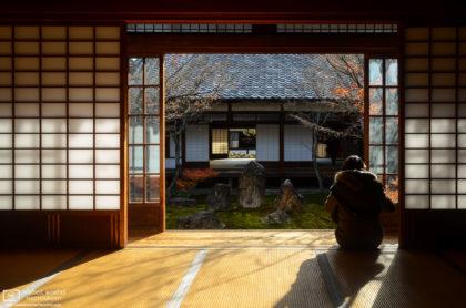 Stone Garden, Kenninji Temple, Kyoto, Japan Photo
