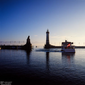 Harbor Traffic, Lindau, Germany Photo