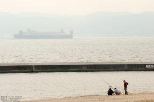 Nippon Express Container Ship, Marine Pier, Kobe, Japan Photo