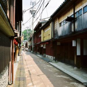 Higashi Chaya District Side Street, Kanazawa, Japan Photo
