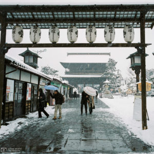 Zenkoji Temple Winter Snow, Nagano, Japan Photo