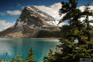 Crowfoot Mountain and Bow Lake, Banff National Park, Canada Photo