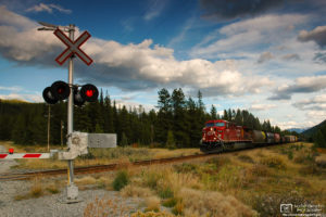 CPR Freight Train, Banff National Park, Canada Photo