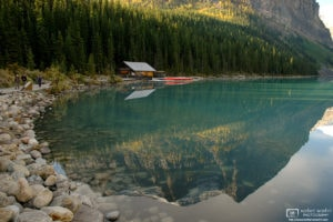 Lake Louise Boat House, Lake Louise, Banff National Park, Canada Photo