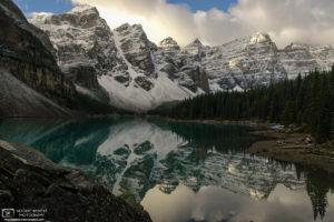 Morning Reflection, Moraine Lake, Banff National Park, Canada Photo
