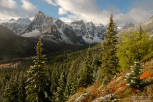 Clear Valley of the Ten Peaks, Banff National Park, Canada Photo