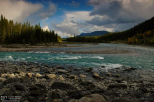 Last Light, Athabasca River, Jasper National Park, Canada Photo