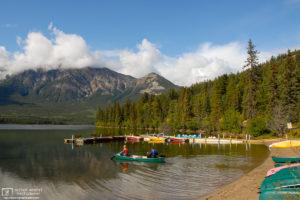 Pyramid Lake, Jasper National Park, Canada Photo