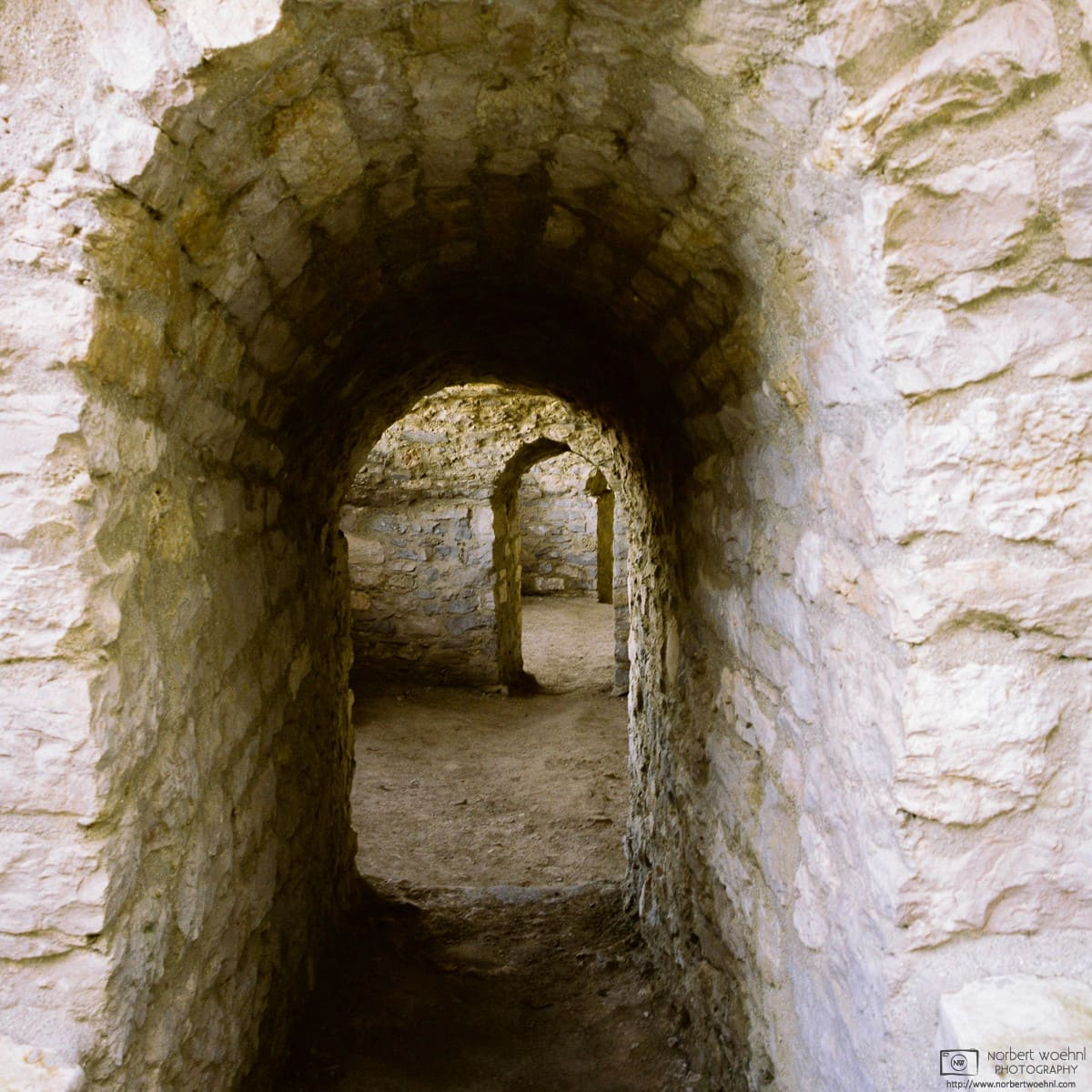 A look at the casemates of Hohenneuffen Castle in southwestern Germany. The oldest portions of these structures date back to the 16th century.