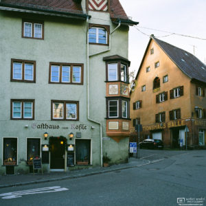 "A photo of the ""Rößle"" in Rottweil, Germany - this building has been home to a restaurant since the late 17th century."