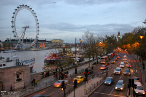 View from Golden Jubilee Bridge, London, England Photo