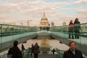 Millennium Bridge and St. Paul's Cathedral, London, England Photo