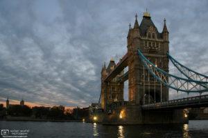 Tower Bridge at dusk, London, England Photo