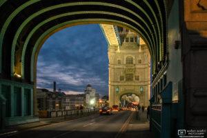 View through Tower Bridge, London, England Photo