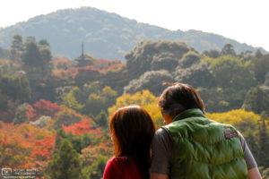 Autumn Leaves Koyo View, Kiyomizudera Temple, Kyoto, Japan Photo