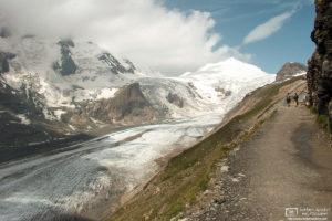View of Pasterze Glacier from Gamsgrubenweg Hiking Trail, Grossglockner, Carinthia, Austria Photo