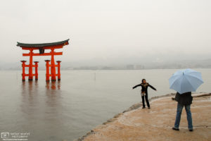 One-and-a-half Torii, Miyajima, Hiroshima Prefecture, Japan Photo