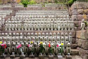 Jizo Statues, Hasedera Temple, Kamakura, Japan Photo