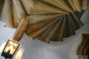 The late gothic double spiral staircase inside the Burg of Graz, Austria, dates back to 1499.
