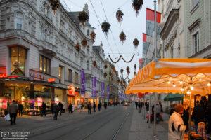 Christmas Decorations, Herrengasse, Graz, Austria Photo