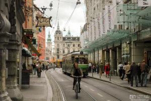 In the Old Town, Sackstraße, Graz, Austria Photo