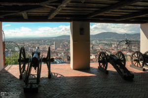 Cannons at Schlossberg Bastion overlooking Old Town, Graz, Austria Photo