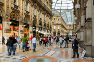 Galleria Vittorio Emanuele II is a beautiful mid-19th century double arcade in Milan, Italy, that is home to elegant shops, galleries and restaurants.